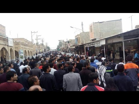 SHUSH, Southwest Iran. Sixteenth day of protests by Haft Tappeh sugarcane mill workers
