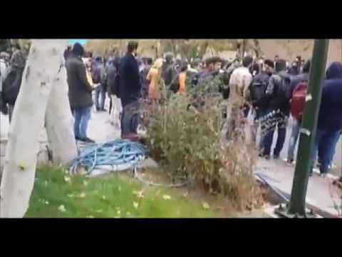 Iran protests: Tehran University students clash with security forces