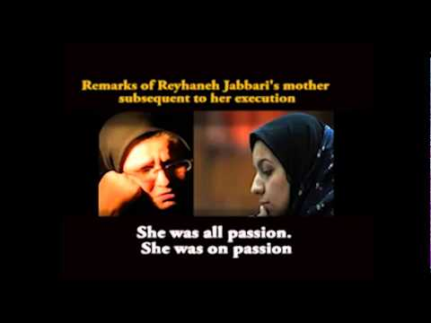 Iran: Tragic remarks of Reyhaneh Jabbari's mother subsequent to her execution. Eng. Subtitle