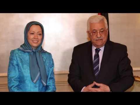 MARYAM RAJAVI, MEETS PRESIDENT MAHMOUD ABBAS - July 30, 2016