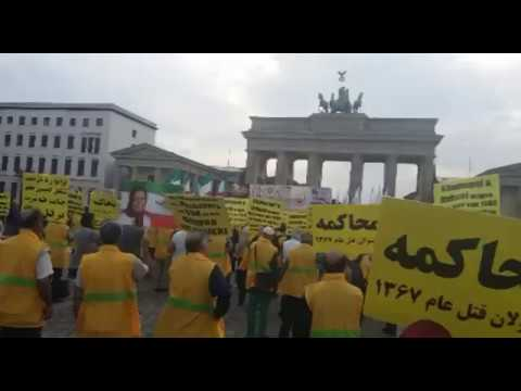 Rally for Solidarity Held in Berlin for Hunger Striking Prisoners of Conscience in Iran