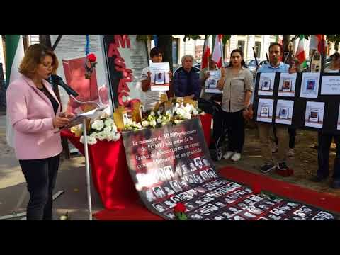 Rally for Solidarity Held in Paris for Hunger Striking Prisoners of Conscience in Iran