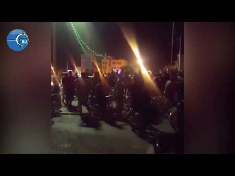 KAZERUN, Iran: Protesters clashing with security forces. Aug. 5, 2018