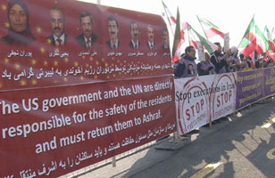 Iranians protest outside UN in Geneva enters its 3rd year