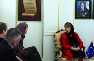 Iranians in Belgium protest EU's Ashton Tehran visit