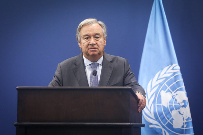 General Antonio Guterres has called on the Iran-backed terrorist group Hezbollah to stop