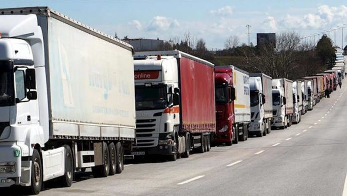 A general strike by truck and heavy vehicle drivers in Iran