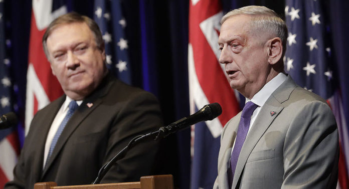 Mattis told reporters at the Hoover Institution in Stanford, California