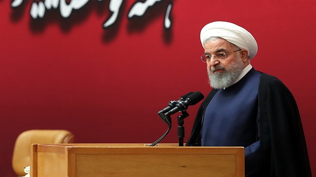 Rouhani, referring to the oil imports that the U.S.