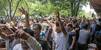 Protests over a lack of drinking water broke out in Borazjan, southern Iran, for the second day on Sunday.