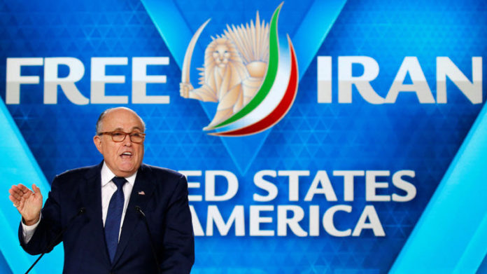 """Giuliani later told Reuters: """"I can't speak for the president"""