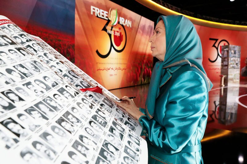 """In a series of tweets on Sunday, Rajavi condemned the shooting of Khorramshahr's """"defenceless residents"""" as a crime against humanity."""