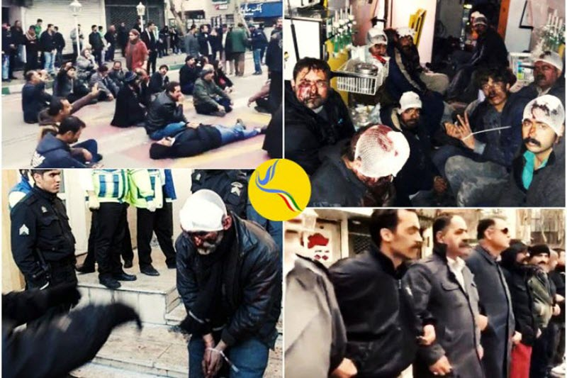 The Regime's suppressive security forces came in to shut down the protests with violence which left hundreds injured and five dead.