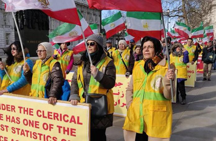 MEK rally in London for International Women's Day