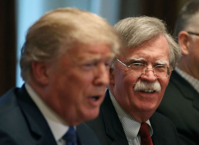 John Bolton Talks Tough with Iran, but Does not Contradict President Trump
