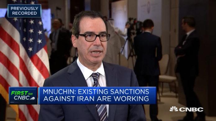 Mnuchin Says Sanctions Working — Iran's Leadership Is so Upset