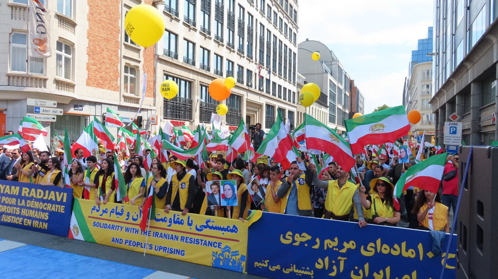 "Thousands Attend MEK Demo in Brussels for A ""Free Iran"""