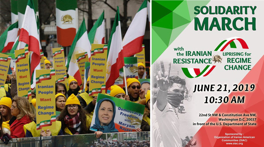 Washington Demonstration by MEK Supporters for a Free Iran