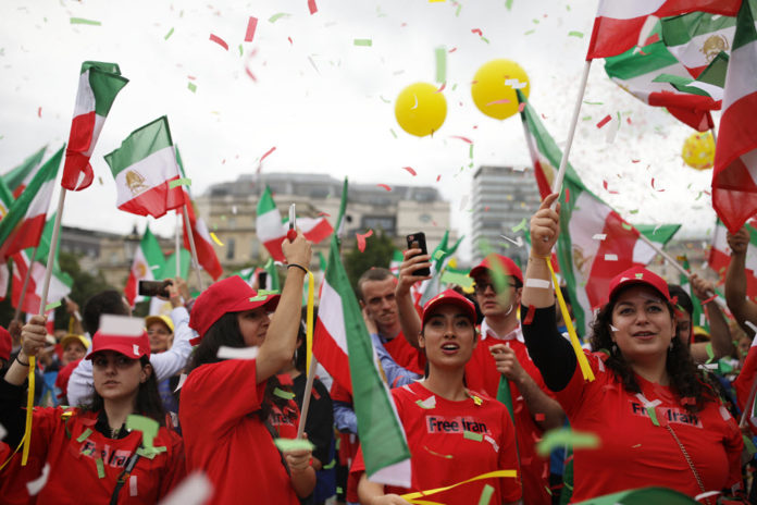 MEK Supporters March in London in Support of a Free Iran With Maryam Rajavi