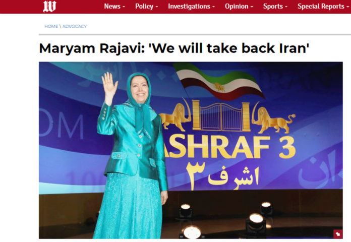 Washington Times Prints Maryam Rajavi Speech From Free Iran Convention