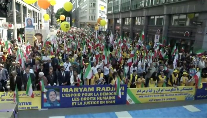 Thousands of supporters of the MEK attend Free Iran Rally, Brussels-June 15, 2019