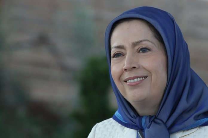 Maryam Rajavi, the leader of the Iranian opposition, gave an impassioned speech at the headquarters of the main opposition group MEK