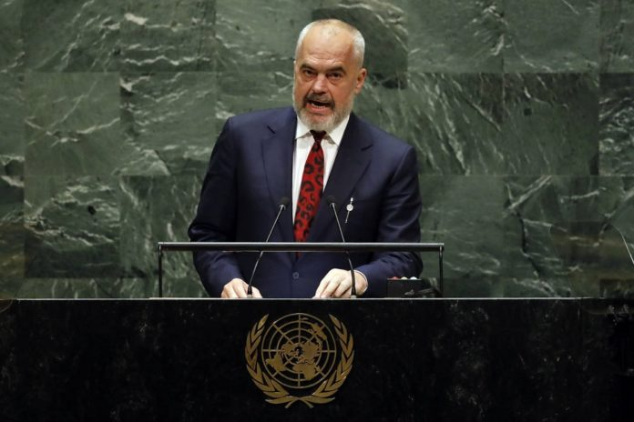 Edi Rama, the Albanian Prime Minister gave a speech to the United Nations General Assembly on Friday, where he spoke about the Iranian regime's illegal and destabilising activities