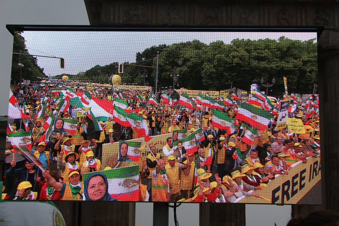 Fifteen thousands Iranian diaspora, supporters of the MEK gathered on 6 July 2019 in Berlin, Germany