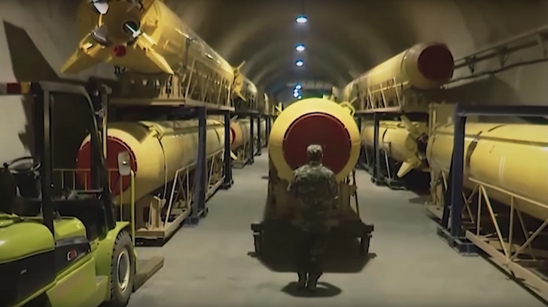 Missile Tunnels Under Iran
