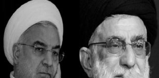 Hassan Rouhani and Khamenie