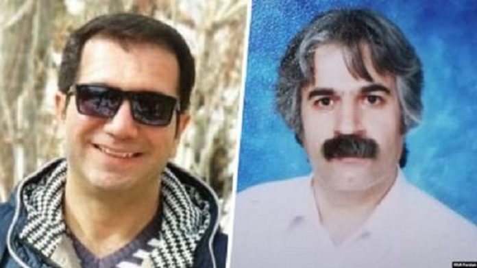 Mehdi Farahi Shandiz and Mohammad Riazat, the two political prisoners wen on hunger strike since October 17 2019, in Iran