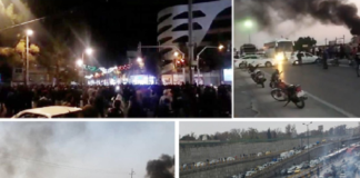 "Anti-regime protests have erupted across Iran, with chants of ""Death to the dictator,"" after the regime tripled the price of gasoline."