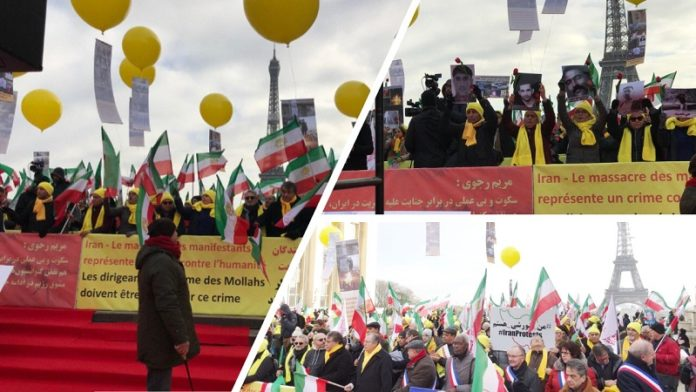 Paris in support of the Iranian People