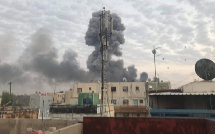 US Secretary of State slammed Iranian-backed militias in Iraq for an attack near Baghdad International Airport that wounded five Iraqi soldiers.