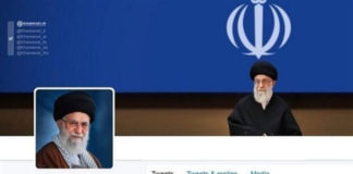 Facebook deletes the Arabic page of Iran's Supreme Leader Ali Khamenei due to breaching its regulations. The image belongs to Khamenei's Arabic account on twitter.