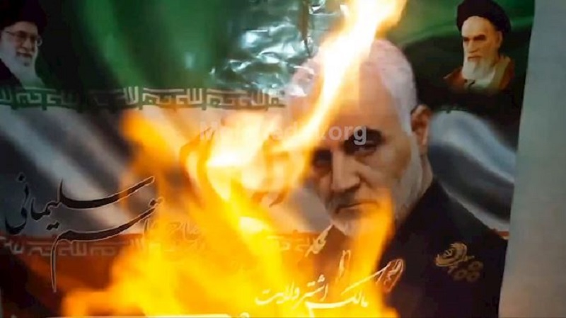 Resistance units members and MEK supporters have for over a week been targeting images of Qassem Soleimani to prove once again that the Iranian people loathe this mass murderer.