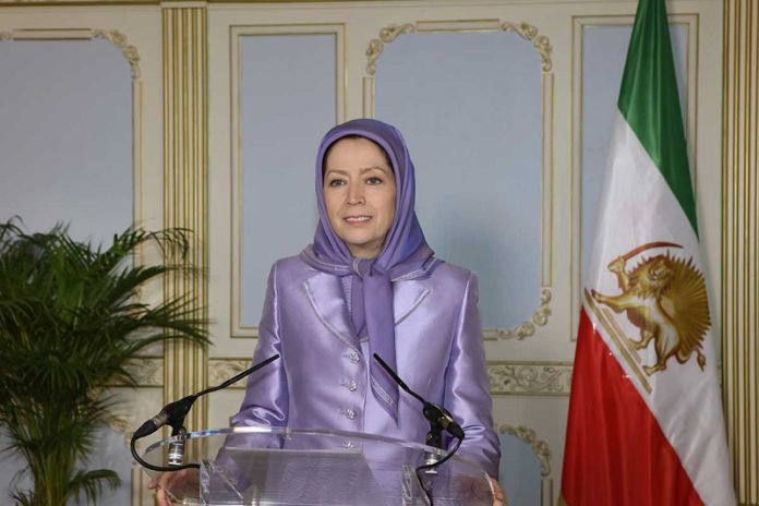"""""""Only the end of this regime will bring peace and security to the Middle East and peaceful coexistence among all nations,"""" Mrs. Rajavi said."""