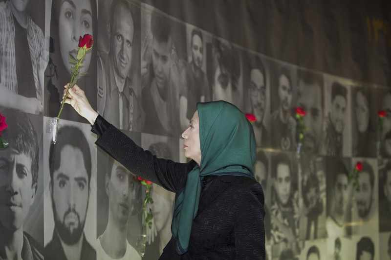 Maryam Rajavi at the ceremony of commemorating the 40th day of the martyrdom of the victims of Iran Uprising
