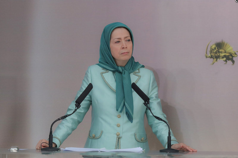 """Maryam Rajavi: """"The regime in Iran has received serious blows in recent weeks, including the Iran uprising in November. Khamenei ordered the IRGC to open fire, killing at least 1,500 protesters."""""""
