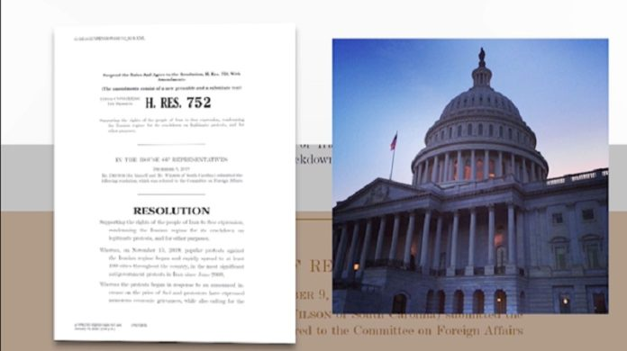 This resolution, sponsored by Congressman Ted Deutch (D- Florida), was introduced soon after the nationwide Iran protests in November and enjoyed bipartisan support.