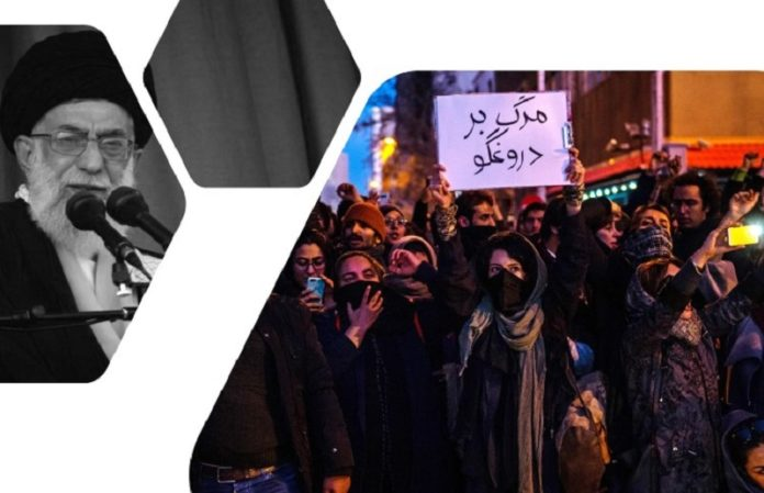 """The recent protests targeted Iran's Supreme Leader, chanting """"Commander-in-Chief of the Armed Forces, resign, resign,"""" """"Death to Khamenei,"""" """"Death to the principle of the velayat-e faqih,"""" and 'IRGC commits crimes, the Supreme Leader supports them."""""""