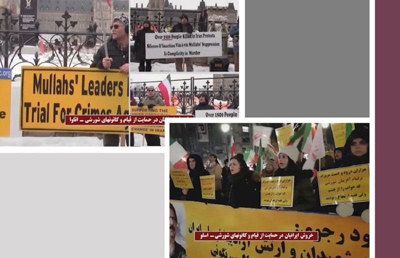 Iranian people outside Iran protest in solidarity with the uprisings of the Iranian people