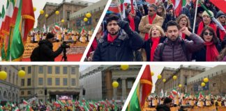 MEK Supporters rally in Europe and North America in solidarity with Iran Protests - February 8, 2020