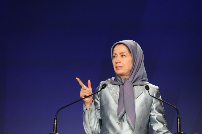 """Maryam Rajavi: With chants of """"death to absolute clerical rule, death to Khamenei,"""" during the Nov. & Jan. uprisings, the Iranian people, voted for the mullahs' overthrow."""
