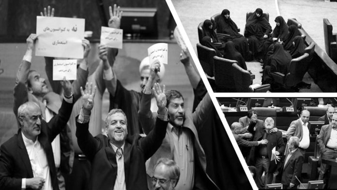 The Iranian regime has almost 17 days to go until its so-called Parliament (Majlis) election. Both factions of the regime —the factions of the regime's supreme leader Ali Khamenei and the regime's president Hassan Rouhani— are trying to push their opponents back.