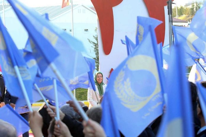 Maryam Rajavi at the 41st anniversary of the Iranian revolution against the monarchic dictatorship