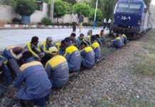 Iran: Mashhad Train workers' on strike (Archive)