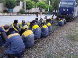Iran: Mashhad Train workers' on strike (Archive)