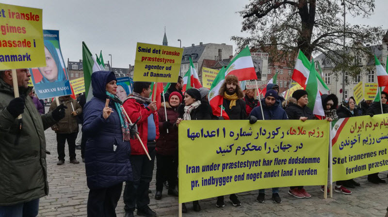Denmark: Demonstration Against Iran Regime's Human Rights Abuse and Terrorism by MEK Supporters - November 2018