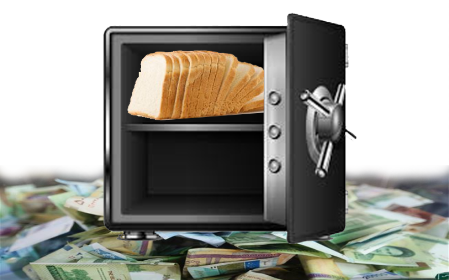 Given the high-prices, Iranians save their essential goods like bread in safes rather than saving valueless banknotes